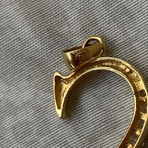 Jewelry - Letter S Pendant 18k solid gold/Cubic Zirconia